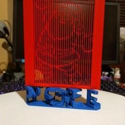Download 3D printer designs Santa Claus with double view lettering, veroniqueduval9118