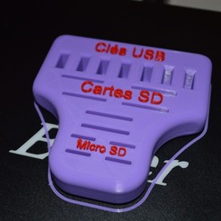Télécharger fichier 3D gratuit Support key USD SD micro SD, veroniqueduval9118