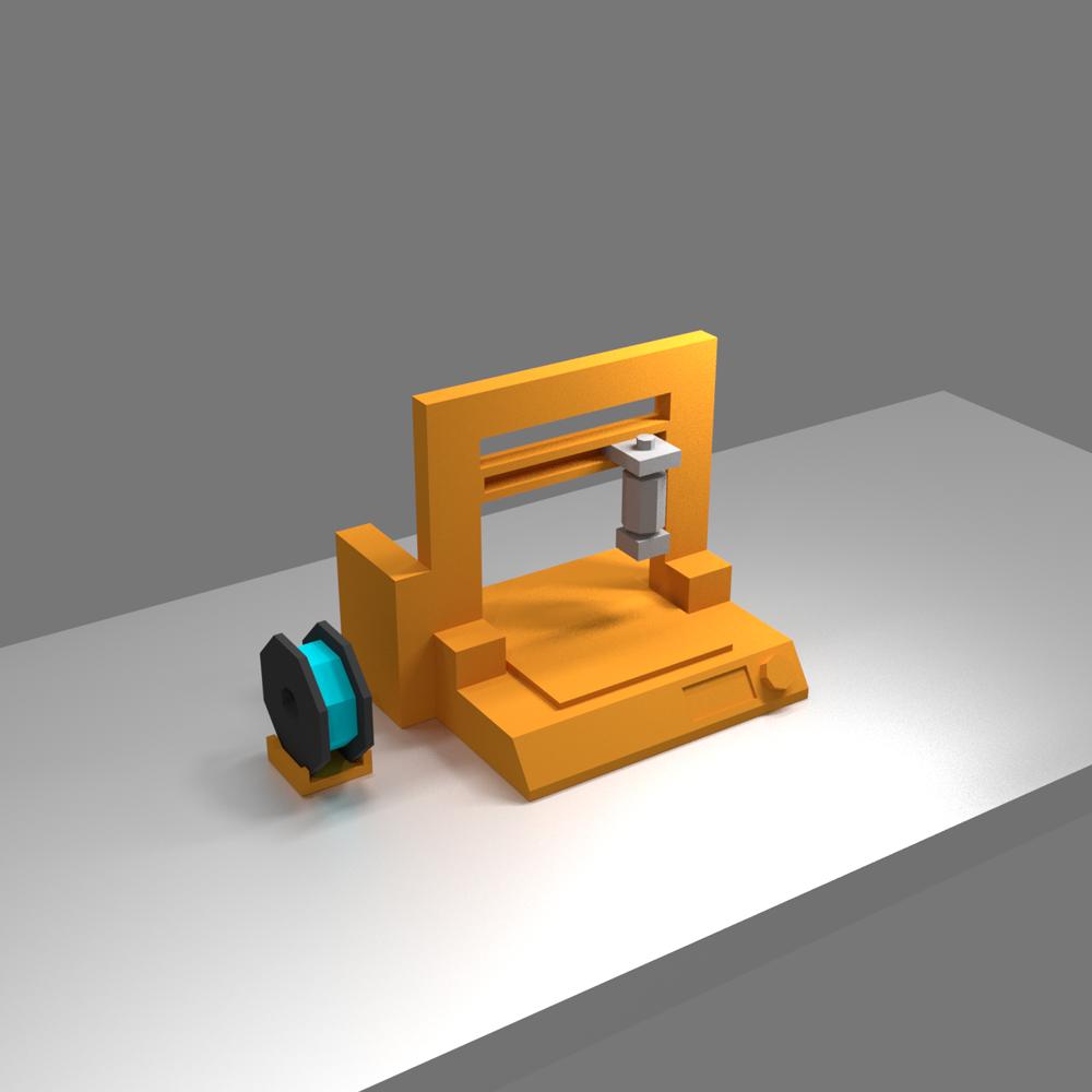 lp3d_only_resized.png Télécharger fichier STL gratuit Lecteur d'imprimantes 3D Low Poly 3D • Objet pour impression 3D, auralgasm