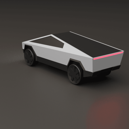 cybrtrkrender2.png Download free STL file Tesla Cybertruck • 3D printer template, auralgasm