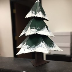 Free 3D printer designs Low Poly Xmas Tree, auralgasm