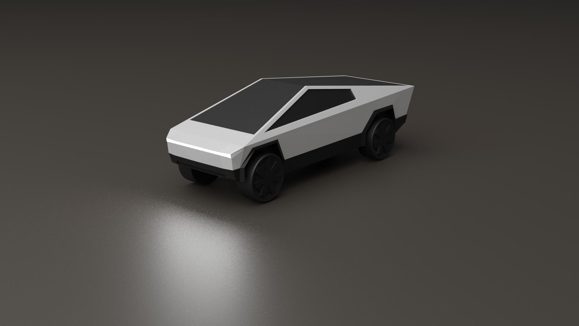 cybrtrkrender1.png Download free STL file Tesla Cybertruck • 3D printer template, auralgasm
