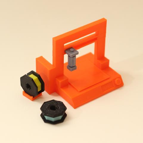 lp3d_printed.png Télécharger fichier STL gratuit Lecteur d'imprimantes 3D Low Poly 3D • Objet pour impression 3D, auralgasm