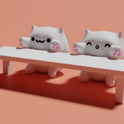 Download free STL Bongo Cat, auralgasm