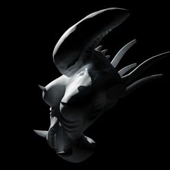 Download 3D printer designs Alien Xenomorph Bust, auralgasm