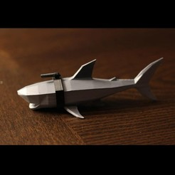 3D printer models Low Poly Shark, auralgasm