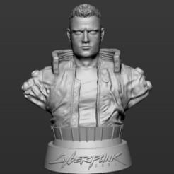 1.jpg Download STL file V CYBERPUNK 2077 BUST • Object to 3D print, Mangudo