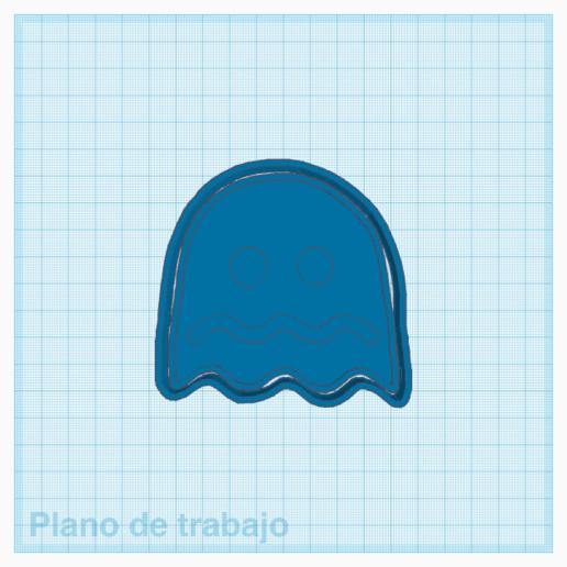 ghost pacman 2.png Download STL file Pacman Cookie Cutter and Sealer • Model to 3D print, carloseduardoalfonsogarcia