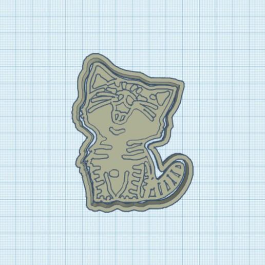 18883EC1-5E65-41DD-BDCF-B12804E12B36.jpeg Télécharger fichier STL L'emporte-pièce Happy Cat • Modèle imprimable en 3D, carloseduardoalfonsogarcia
