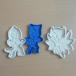 Download 3D printing models set pj mask cookie cutter and sealer, carloseduardoalfonsogarcia