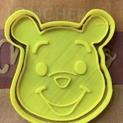 Download 3D printer templates Winnie Pooh Cookie Cutter Set, carloseduardoalfonsogarcia