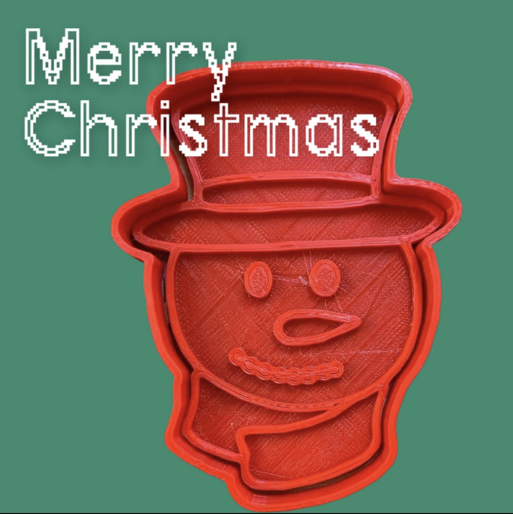 7021E154-37D6-4A0E-8866-90730D27698E.jpeg Download STL file Cookie Cutter Christmas Snowman • 3D print template, carloseduardoalfonsogarcia