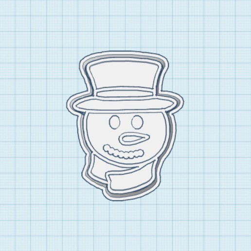 85429A4A-939A-4422-A7A6-5E691F6CB621.jpeg Download STL file Cookie Cutter Christmas Snowman • 3D print template, carloseduardoalfonsogarcia