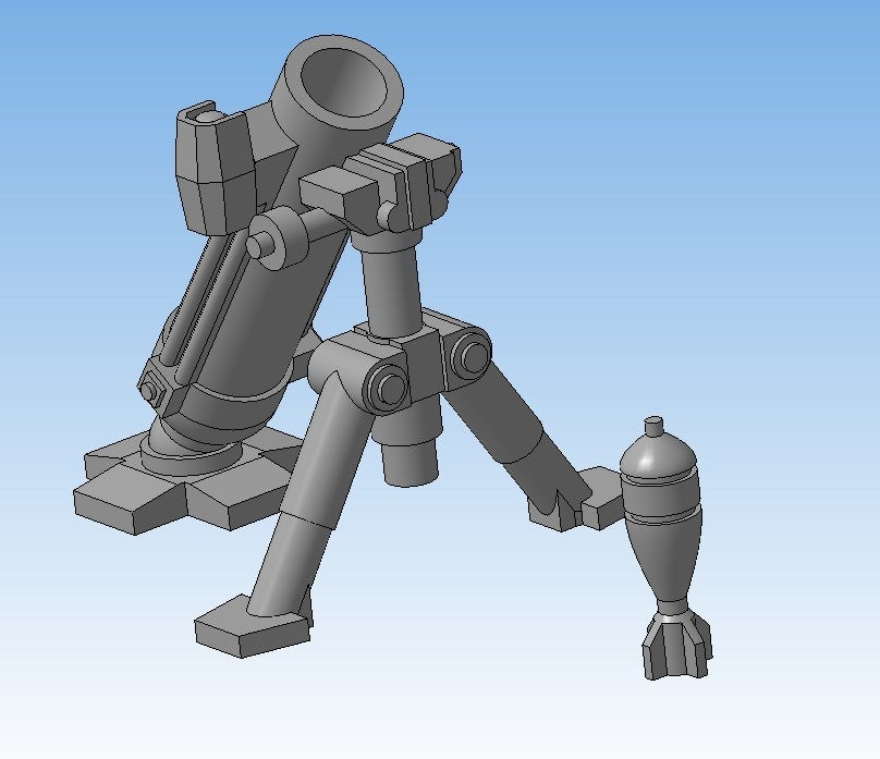 5e8f5d4750f01ad3f2bbd6208f4723fd_display_large.jpg Download free STL file Mortar (Heavy weapons team) • 3D printable model, Solutionlesn