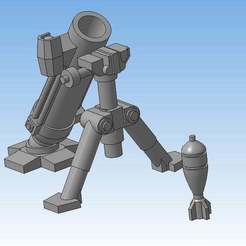 Download free STL file Mortar (Heavy weapons team) • 3D printable model, Solutionlesn