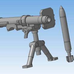 Download free STL file Missile launcher (Heavy weapons team) • 3D printing model, Solutionlesn