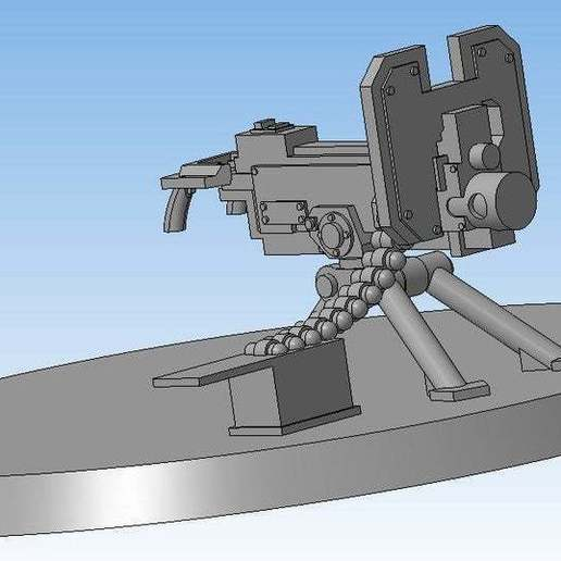 Download free 3D printing models Heavy bolter (Heavy weapon team), Solutionlesn