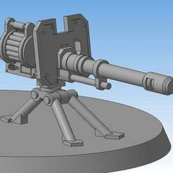Download free STL file Autocannon (Heavy weapons team) • 3D print model, Solutionlesn