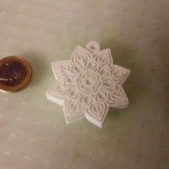 Télécharger fichier 3D gratuit porte-clés fleur de mandala, Nedis