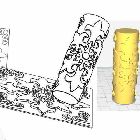 Download 3D model Tile emboss roll 15cmx15cm, Nedis