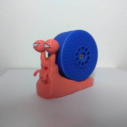 Objet 3D Haut-parleur Bluetooth de Luffy's Den Den Mushi, Hephaestus3D