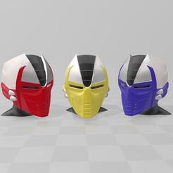 Imprimir en 3D Casco Ninja Cyborg Clásico de Mortal Kombat (Cyrax Sektor Smoke Sub-Zero), Hephaestus3D