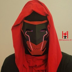 red hood face.jpg Download STL file Red Hood Mask from DC's Future State  • 3D print template, Hephaestus3D