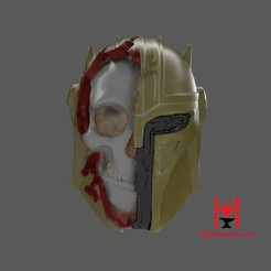 a s 2 (2)h.jpg Download STL file ARMORER skull (BLACKSMITH) helmet MANDALORIAN Star wars halloween special  • Template to 3D print, Hephaestus3D