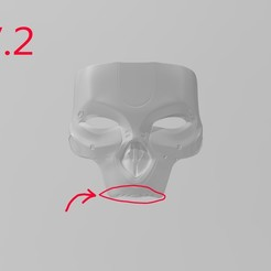 Descargar archivos STL Leyendas de la cúspide de Revenant Mask V2 actualizadas, Hephaestus3D