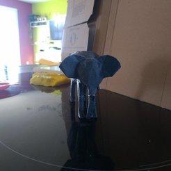 Archivos STL gratis bajo elefante poli, davidgallot3