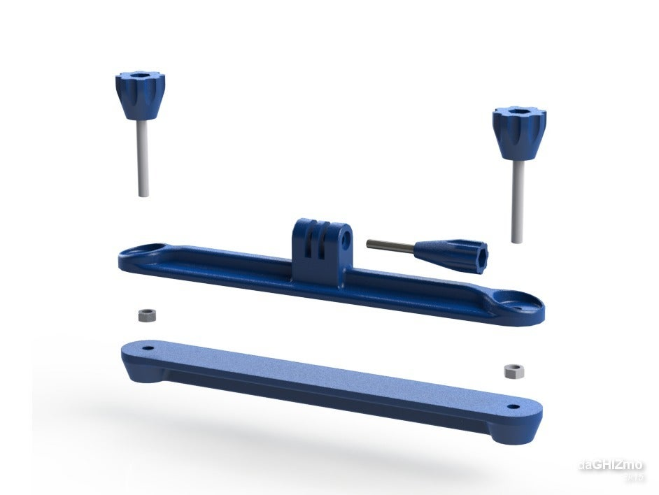 gopro_LGB_clamp_03.png Download free STL file Longboard clamp for GoPro camera • Model to 3D print, daGHIZmo