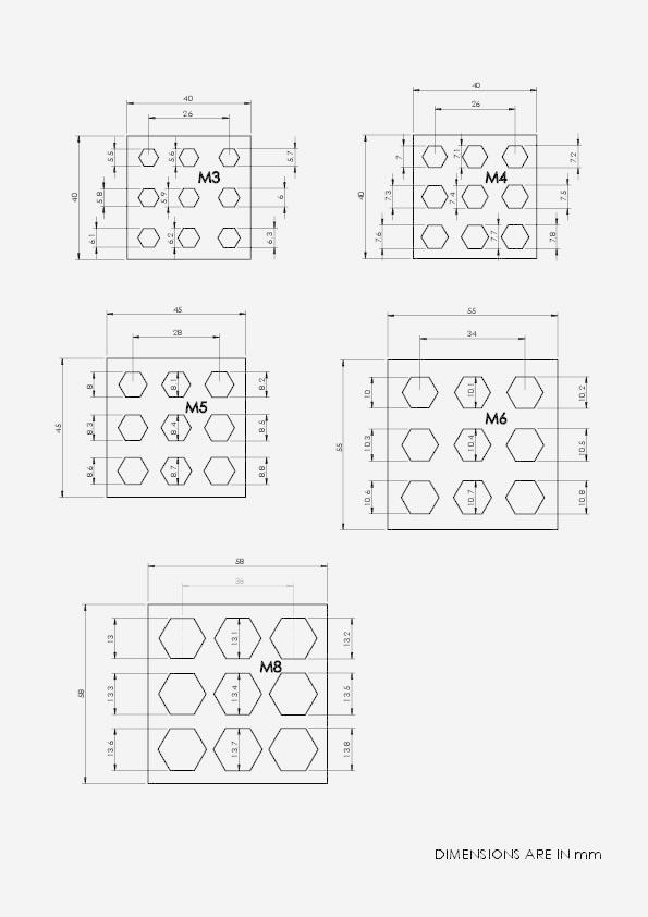 96ea7d96c1b844b4c92c3e753a8d1c4c.png Télécharger fichier STL gratuit Test CAPTIVE NUTS • Design imprimable en 3D, daGHIZmo