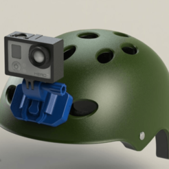 GP_FRONT_04.png Download free STL file GoPro Helmet Front mount • Template to 3D print, daGHIZmo