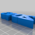 Download free 3D printing templates HAPPY NEW YEAR SIGN, daGHIZmo