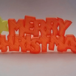 Download free 3D printer model Merry Christmas Sign, daGHIZmo