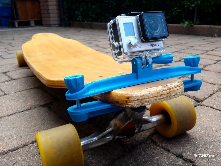 gopro_LGB_clamp_11.png Download free STL file Longboard clamp for GoPro camera • Model to 3D print, daGHIZmo