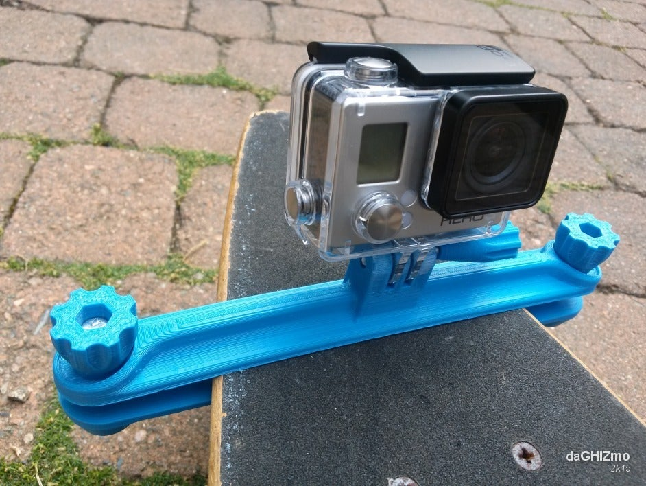 gopro_LGB_clamp_08.png Download free STL file Longboard clamp for GoPro camera • Model to 3D print, daGHIZmo