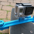 Download free 3D printing models Longboard clamp for GoPro camera, daGHIZmo