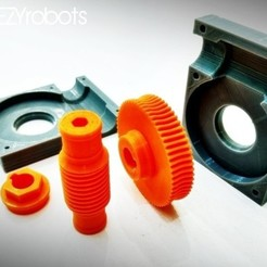 Download free 3D printing templates Worm gearbox 1:60, daGHIZmo