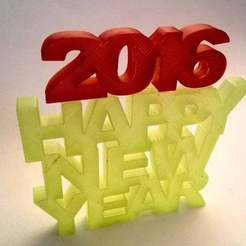 Download free STL file HAPPY NEW YEAR SIGN • 3D printer design, daGHIZmo