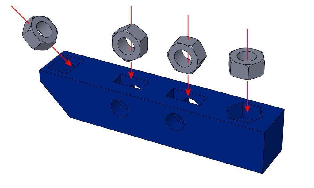 captive_04.jpg Télécharger fichier STL gratuit Test CAPTIVE NUTS • Design imprimable en 3D, daGHIZmo