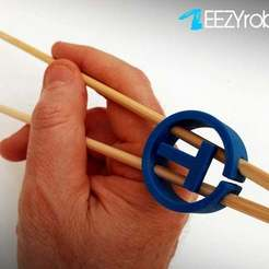 thchopstick_017.jpg Download free STL file THINGLOGO CHOPSTICK HELPER • 3D print object, daGHIZmo