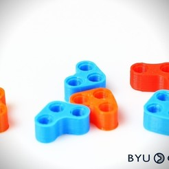 Download free 3D printing models CurvedLinks: Adapter pieces (LEGO Compatible), byucmr