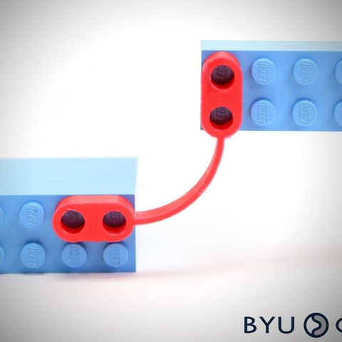 Free STL FlexLinks: Fixed-Fixed Beam - Initially Curved (LEGO Compatible), byucmr