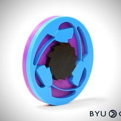 Free 3D printer designs Compliant Overrunning Clutch, byucmr