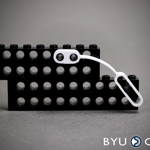Free STL FlexLinks: Fixed-Slotted Straight Beam (LEGO Compatible), byucmr