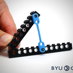 Free 3D printer model FlexLinks: Fixed-Fixed Straight Beam (LEGO Compatible), byucmr