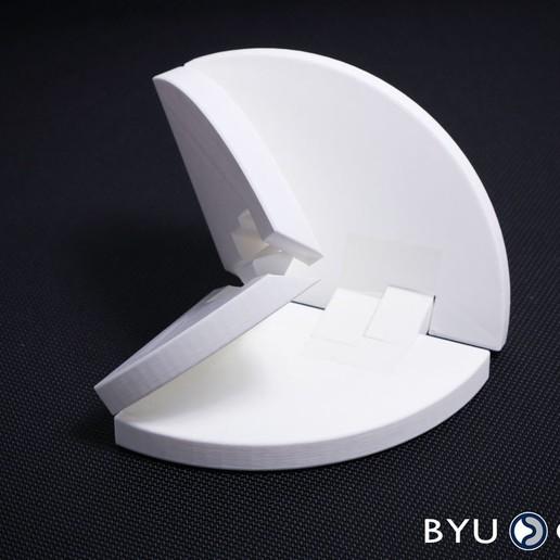 Download free 3D model Four-bar Origami vertex, byucmr