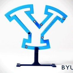 Download free 3D print files Morphing Y: a one-DOF six-bar developable mechanism, byucmr