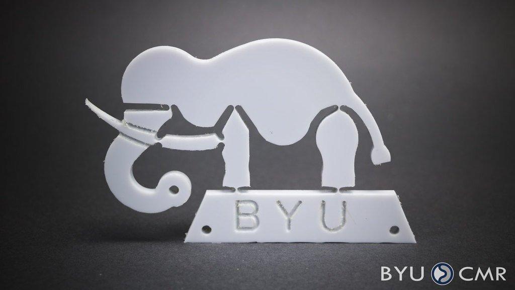 "6aab48dd6729bcf9d1816aa73a8d9f1f_display_large.jpg Download free STL file ""Wyrd"" Elephant Compliant Mechanism • 3D print object, byucmr"